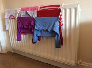 Washing And Drying Clothes In High Flats Housing And